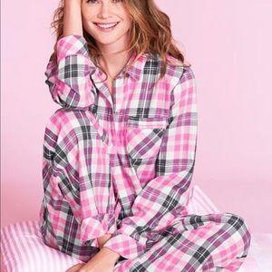 Victoria secret 2 piece set flannel button pajama